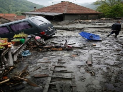 Flooding in the Balkans