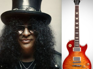 GIBSON 2014 LES PAUL GUITAR SIGNED BY SLASH BENEFITING MUSIC FOR RELIEF